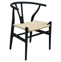 Jace Ming Modern Global Bazaar Rattan Black Dining Arm Chair