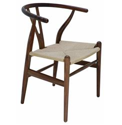 Jace Ming Modern Global Bazaar Rattan American Walnut Dining Arm Chair