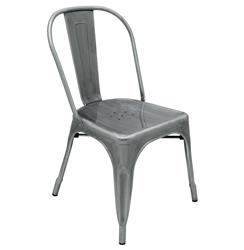 Graham Industrial Loft Steel Outdoor Safe French Deco Dining Chair