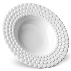 L'Objet Aegean Modern Classic White Porcelain Soup Plate