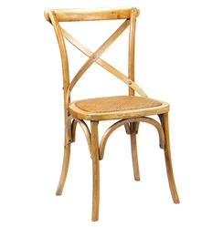 Kasson French Country Light Oak Wood Dining Side Chair - Pair