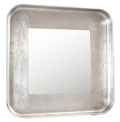 Marant French Modern Silver Leaf Round Square Mirror