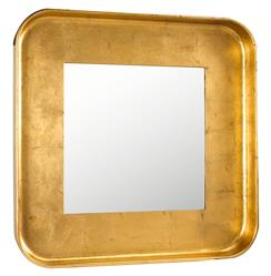 Marant French Modern Gold Leaf Round Square Mirror | FH-M-8704-106-GLD
