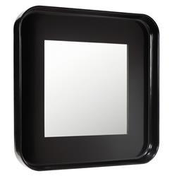 Marant French Modern Polished Black Round Square Mirror
