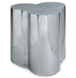 Kazir Global Bazaar Polished Steel Clover Stool Side Table | REG-5-569