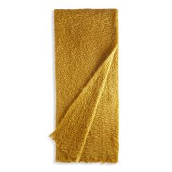 L'Objet Haas Vermiculation Modern Classic Yellow Mohair Throw Blanket