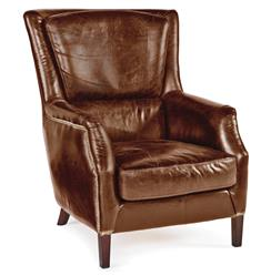 Alfred Rustic Lodge Vintage Brown Leather Armchair | REG-405-024-VBR