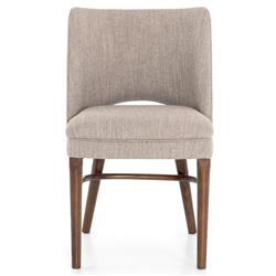 Lyra Modern Classic Grey Performance Upholstered Seat Dining Chair