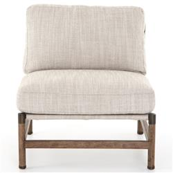 Phei Modern Beige Performance Upholstered Seat Wood Occasional Chair
