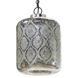 Shanti Global Bazaar Mercury Glass Pattern Pendant Light