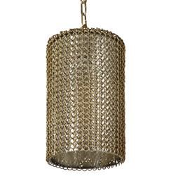 Wendell Industrial Loft Brass Chain Mercury Glass Pendant Light | REG-44-8627