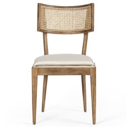 Tina Modern Grey Upholstered Seat Brown Nettle Wood Dining Chair
