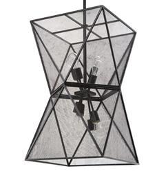 Ramelli Industrial Loft Geometric Black Mesh Lantern Pendant