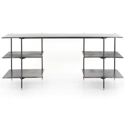 Mara Industrial Loft Black Iron Desk