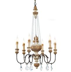 Ronsard French Country Crystal Bead Parisian Chandelier