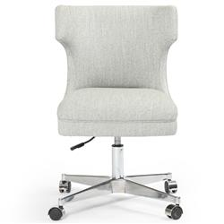 Liana Modern Grey Upholstered Seat Stainless Steel Iron Office Swivel Chair