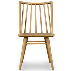 Lara Windsor Modern Classic Brown Oak Wood Dining Chair