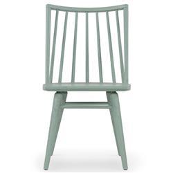 Lara Windsor Modern Classic Green Oak Wood Dining Chair