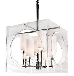 Hannigan Hollywood Regency Modern Acrylic Pendant Chandelier