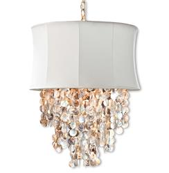 Queensland Coastal Beach Abalone Shell Ivory Chandelier | REG-505-526