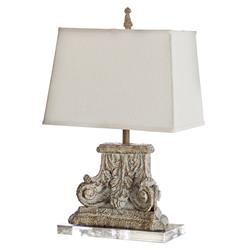 Rivier French Country Capitol Pillar Table Lamp