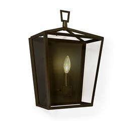 Regina Andrew Camden Modern Classic Bronze Steel Lantern Sconce