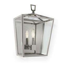 Regina Andrew Camden Modern Classic Polished Nickel Steel Lantern Sconce