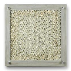 Palecek Mallorca Coastal Beach White Cultured Seashell Framed Wall Art