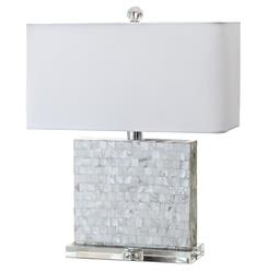 Regina Andrew Horizontal Coastal Beach Mother of Pearl Square Table Lamp