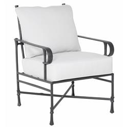 Castelle Bordeaux French White Sunbrella Grey Aluminum Outdoor Dining Arm Chair