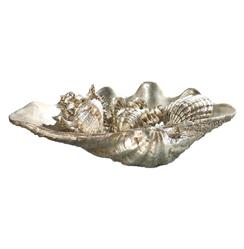 Regina Andrew Antique Hampton Coastal  Antique Silver Sea Shells - Set of 5