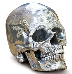 Hamlet Industrial Loft Polished Nickel Metal Skull