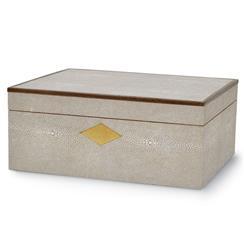 Palecek Shagreen Taupe Shagreen Hollywood Regency Box