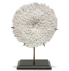 Moonshadow Coastal Beach Coral Plate Sculpture | Kathy Kuo Home