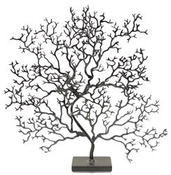 Palecek Coral Table Charcoal Grey Coral Sculpture