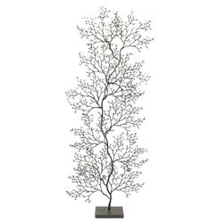 Palecek Coral Sculpture Charcoal Grey Fan Coral Sculpture - Tall