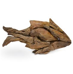 "Pescado Coastal Beach Driftwood Fish Sculpture - 19.75""W 
