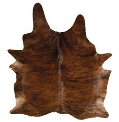 Clark Brindle Brown Cowhide Rug