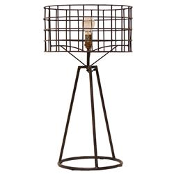 Sanctuary Industrial Loft Steel Table Lamp