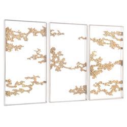 John-Richard Aperature Hollywood Regency Silver Steel Wall Frames - Set of 3