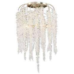 John-Richard Cascading Crystal Hollywood Silver Iron 6 Light Semi Flush Mount