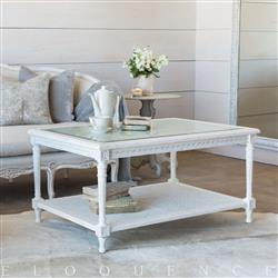 Eloquence® Le Courte Coffee Table in Antique White | ELO-TCRC01-AW