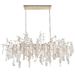John-Richard Shiro-Noda Hollywood Frosted Crystal 15 Light Horizontal Chandelier