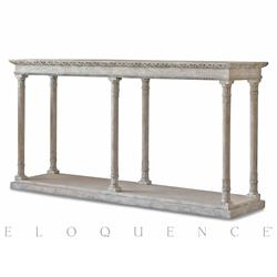 Eloquence Gustav Console Table in Oak Driftwood