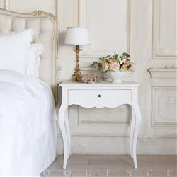 Eloquence Elisabet Nightstand in Fleur de Sel White
