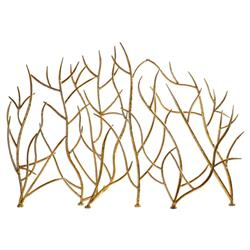 Giana Modern Classic Gold Branches Fireplace Screen
