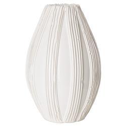 Alexandria Coastal Beach White Ceramic Matte Decorative Vase