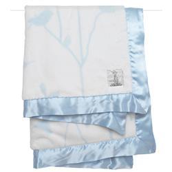Little Giraffe Luxe™ Modern Classic Blue Birdsong Baby Blanket