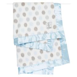 Little Giraffe Luxe™ Modern Classic Blue Dot Baby Blanket
