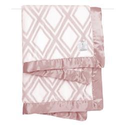 Little Giraffe Luxe™ Modern Classic Dusty Pink Diamond Baby Blanket
